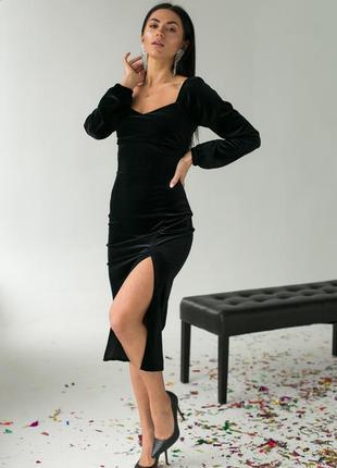 Изысканное платье с декоративным декольте и распоркой4 фото