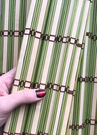 Бамбуковые деревянные сервировочные подставки коврики под горячее
