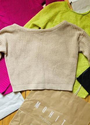 Укороченая кофта свитер