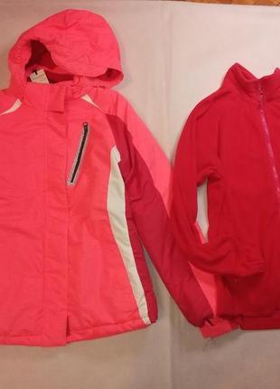 Куртка курточка горнолыжная с флиской