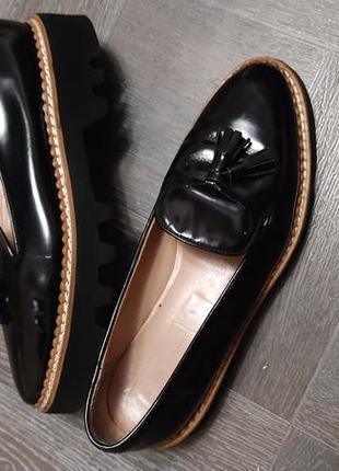 Кожаные туфли,кожаные лоферы