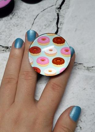 Попсокет держатель для телефона пончики glass