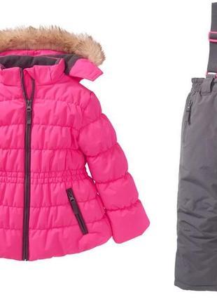 Теплый зимний термо комбинезон kiki&koko куртка штани комплект 104