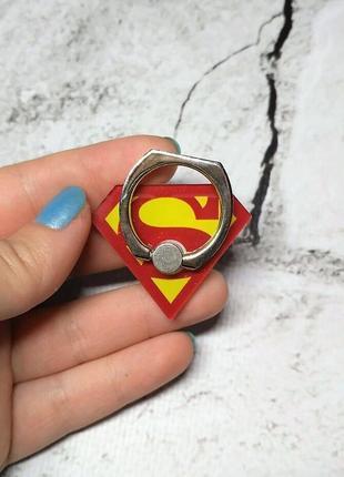 Кольцо держатель для телефона супермен