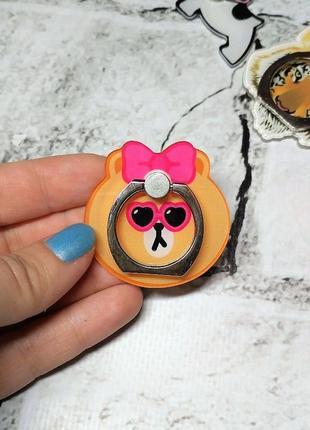 Кольцо держатель для телефона мишка