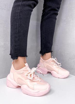 Новые женские персиковые кроссовки