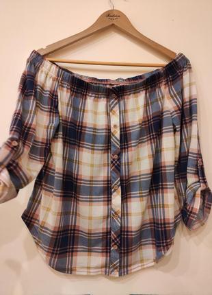 Блуза со спущеными плечами (блуза для беременных)