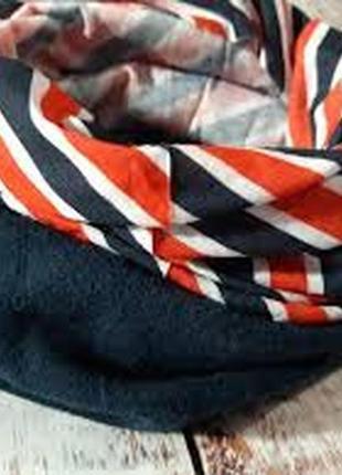 Флисовый снуд в полоску, шарф, бафф, crivit, германия