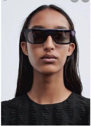 Солнечные очки в плоской оправе из ацетата zara оригинал