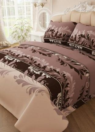 Двуспальный косплект постельного белья, постельное вензель, бязь голд люкс