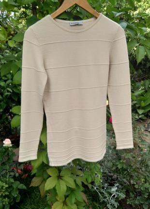 Базовый бежевый шерстяной свитер / реглан folgore milano
