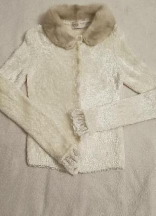 Кофта, свитер с норковым воротником iceberg