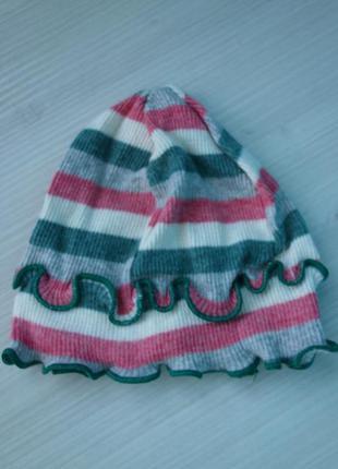 Трикотажная хлопковая детская шапка