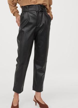 Трендовые кожаные штаны h&m