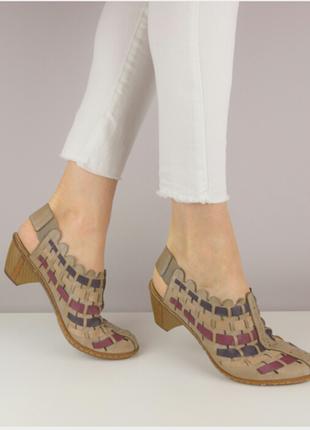 Босоножки плетенки сандалии туфли rieker р.38