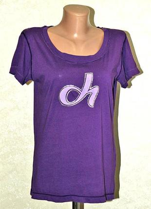 Брендовая футболка deha италия 100% cotton с принтом размер s-m