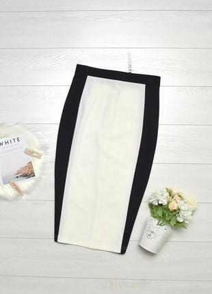 Красива чорно-біла юбка карандаш asos.