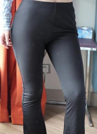 Клешные брюки штаны клёш рубчик