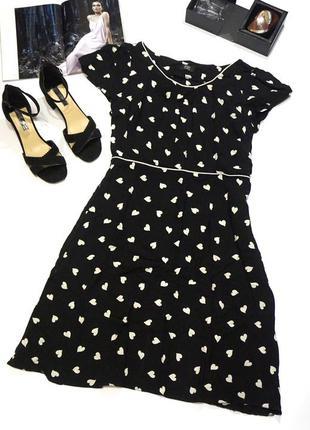 Классное платье в актуальный принт сердечки