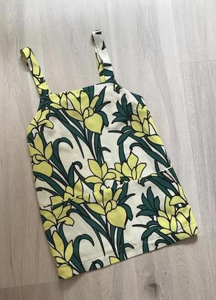 Блуза майка топ футболка в квітковий принт / топ в цветочный принт кофта с карманами