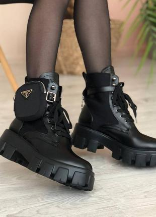Ботинки женские прада prada monolith