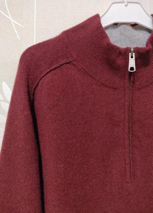 Кашемировый свитер джемпер полувер гольф