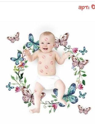 Фотофон для фотосессии малышей по месяцам