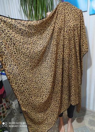 Шикарный сочный платок палантин леопард