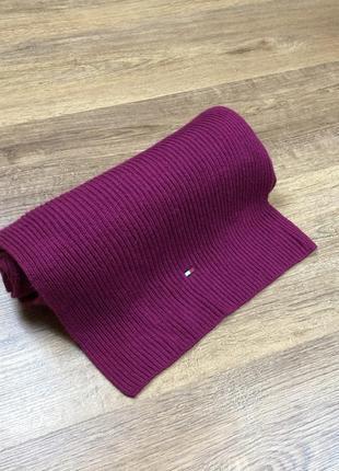 Шарф tommy hilfiger knit scarf purple