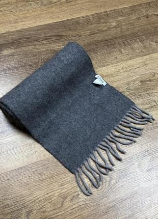 Класичний шарф eton wool scarf grey