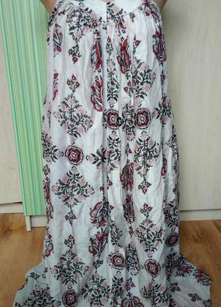 Шикарный  нежнейший сарафан  платье в принт рр.с-м