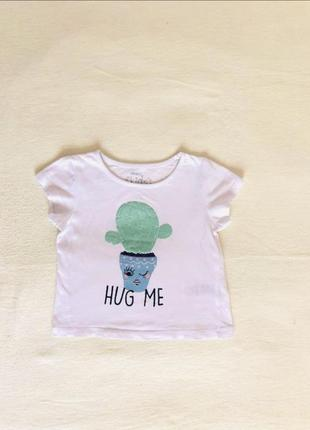 Стильная футболка,майка. 9-12 мес