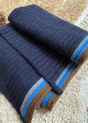 Шерстяной шарф paul smith💙🤎🧡