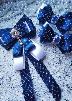 Школьный комплект бантики галстук габор школьный школа форма