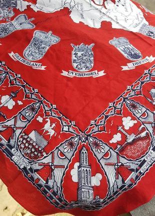 Хлопковая бандана платок с оригинальным рисунком