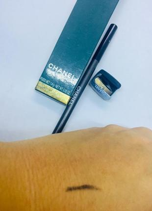 Chanel карандаш с точилкой в упаковке коричневый сиреневый синий