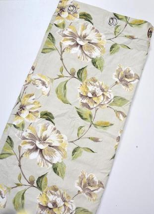 Dunelm mill шикарная плотная,теневая штора на все окно,с крупными цветами на подкладе
