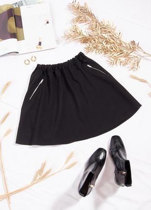 Черная юбка солнце, пышная мини юбка короткая, юбка солнце-клеш, спідниця сонце