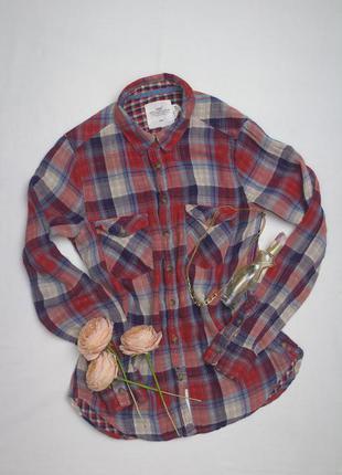 L.o.g.g  актуальная крутая рубашка в крупную клетку с интересной тканью