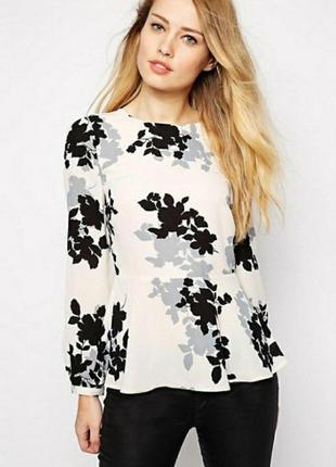 Стильная нарядная блузка с баской oasis