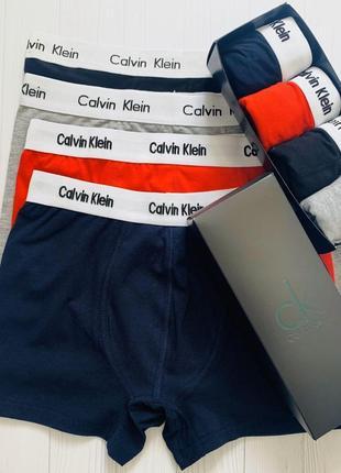 Набор мужских трусов боксеров calvin klein 4 шт в подарочной упаковке