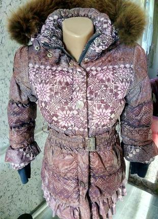 Пуховик пальто для ребенка.