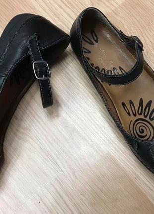 Туфли балетки softwalk натуральная кожа р.38/39 ст.25см