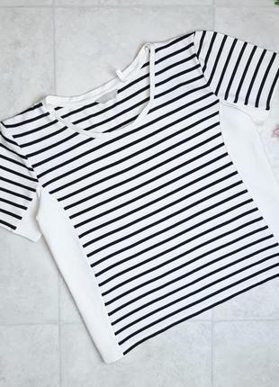 1+1=3 базовая трикотажная белая футболка в полоску anthology, размер 54 - 56