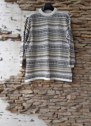 Теплый пуловер,  свитерок большого размера