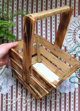 Деревянная корзинка корзина дерево
