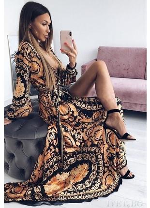 Шикарное женское платье макси вечернее нарядное