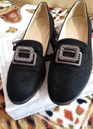 Замшеві туфлі.балетки miss laura