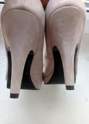 Замшевые туфли zara, размер 395 фото