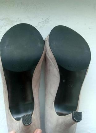 Замшевые туфли zara, размер 396 фото